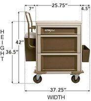 medication cart with Lock 4050X6 Manrex Ltd