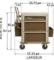 403A2X1-Self locking medication cart - UltraGlide