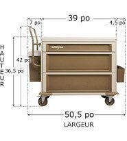 405S2X1-UltraGlide Medication cart