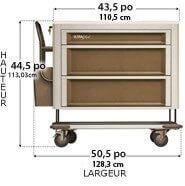 407X2V1-UltraGlide medication cart
