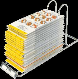 Webster system multi dose blister card