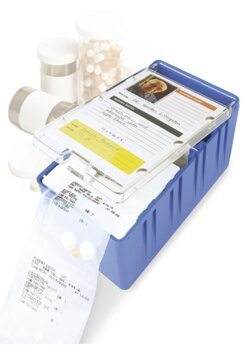 Pouch Porter medication delivery and storage system for long term care